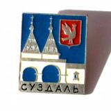 INSIGNA RUSIA URSS CCCP STEMA REGIUNE / ORAS SUZDAL 2 - 22 x 27 mm **