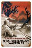 Poster din otel Propaganda Nazista WW II - SKIJEGERBATALJON