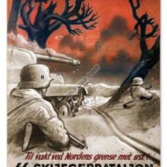 159.Reproducere Propaganda WW II - SKIJEGERBATALJON