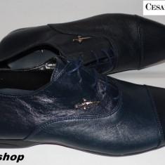Pantofi Eleganti CESARE PACIOTTI 100% Piele Naturala - Model NOU !!! - Pantofi barbat Cesare Paciotti, Marime: 41, 42, Culoare: Bleumarin