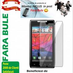 Folie de protectie Transparenta Motorola XT910 MONTAJ iNCLUS in Pret