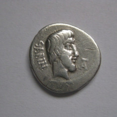 RARITATE!!! DENAR ROMAN ARGINT CU REGELE SABINILOR(TITUS TATIUS) 89 I.H. - Moneda Antica, Europa