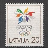 Letonia.1998 Olimpiada de iarna NAGANO  SL.139