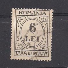 No(9)timbre-Romania -Taxa de plata 6 LEI - stampilata, An: 1946