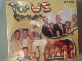 TOP US GROUPS-3CD BOX - NOU/SIGILAT- (THE DRIFTERS/THE PLATTERS/THE TEMPTATIONS)