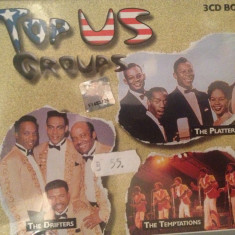 TOP US GROUPS-3CD BOX - NOU/SIGILAT- (THE DRIFTERS/THE PLATTERS/THE TEMPTATIONS) - Muzica Rock Altele