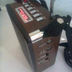 BOXA MP3 SI RADIO FM cu SLOT USB / CARD SD + ACUMULATOR INTERN cu AFISAJ, 10 W Reali - MP3 player