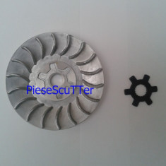 Paleta / Fulie racire + steluta variator scuter Malaguti - Piese bloc motor moto