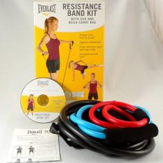 Everlast - set de 3 extensoare Pilates cu DVD pentru exercitii inclus - Nou - Extensor Fitness Everlast, Extensor