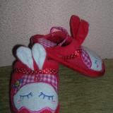 Papuci casa - Papuci copii, Fete, Rosu