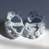 Botosei crosetati - marturii botez (BLEU) - lichidare stoc