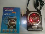 Boxa MP3 player X-BASS portabila cu LANTERNA cu acumulator intern , RADIO FM SLOT USB / CARD SD/ slot Baterii