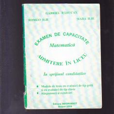 EXAMEN DE CAPACITATE MATEMATICA --ADMITERE IN LICEU - Teste admitere liceu