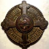 5.289 MEDALIE ROMANIA CAROL II RASPLATA MUNCEI PENTRU BISERICA 38mm - Medalii Romania