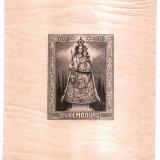 1945 MADONA OF LUXEMBOURG MICHEL BL4 neuzata cu sarniera, usoare aderente., Oameni, Nestampilat