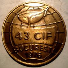 C.452 MEDALIE ROMANIA 43 CIF BUCURESTI 1976 TEHNOLOGIE SECTOARE CALDE 35mm - Medalii Romania