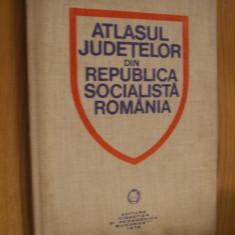 ATLASUL JUDETELOR din REPUBLICA SOCIALISTA ROMANIA  --  Vasile Cucu  -- [  1978,  139 p.]