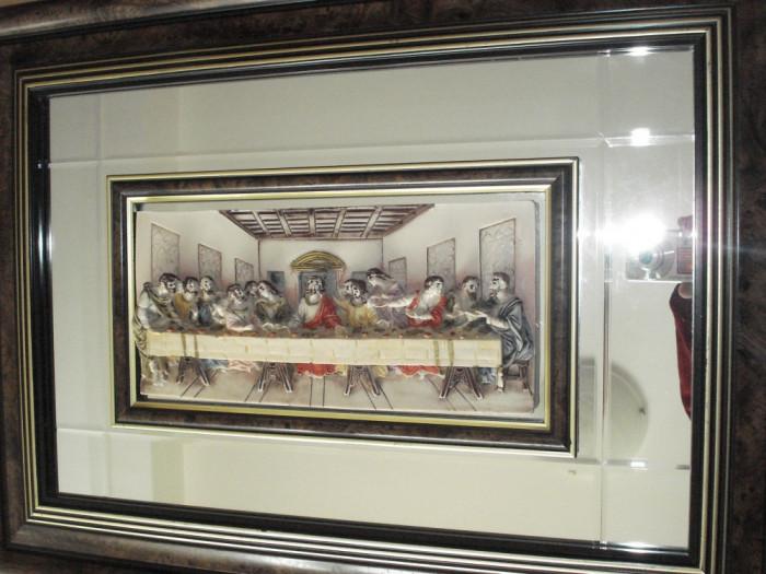 CINA CEA DE TAINA - tablou in relief, cu oglinda