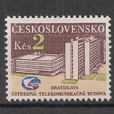 Cehoslovacia.1984 Sediul Central al Comunicatiilor Bratislava SC.896 - Timbre straine
