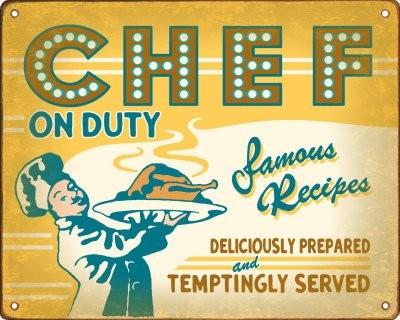 Reclama vintage CHEF ON DUTY