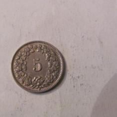 CY - 5 rappen (centimes) 1953 Elvetia