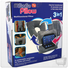 Perna 3 in 1 GoGo Pillow Tableta Calatorii Si Masina, Universal