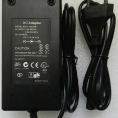 Alimentator 12V 6A 6 AMPERI 72W 5.5mm Transformator 220V BANDA LED 3528 RGB 5050