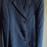 Costum barbatesc nou (2 piese) fabricat in Italia. Livrare gratuita si bonus! - Costum barbati, Marime: 46, Culoare: Gri, 3 nasturi, Marime sacou: 46, Normal