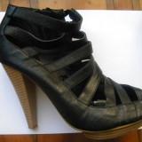 Sandale romane - Sandale dama, Culoare: Negru, Marime: 40, Negru