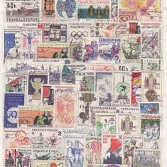 1206 - Lot timbre Cehoslovacia