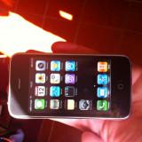 Vand iPhone 3G Apple white neverlock,, Negru, 8GB, Neblocat