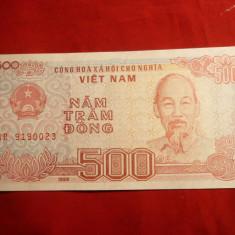 Bancnota 500 Dongi Vietnam, cal.NC