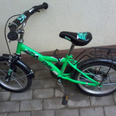 Bicicleta dhs copii stare buna - Bicicleta copii DHS, 14 inch, 20 inch, 5-7 ani, Otel, Verde