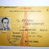 Legitimatie 1959 fotbal + foto - director club Prahova Ploiesti