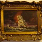Tablou, pictura ulei pe panza semnata ADI CORNEL - Pictor roman, Marine, Altul