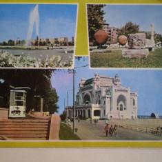 ROMANIA - CONSTANTA - FINTINA  ARTEZIANA , PARCUL  ARHEOLOGIC , CAZINOUL - CIRCULATA  CU  TIMBRU  SEC.