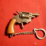 Breloc Pistol ,metal ,5,5x4,2 cm ,macheta functionala