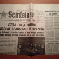 ziarul scanteia 6 iunie 1975 (vizita lui ceausescu in brazilia )