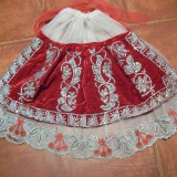 VL22. POALE SI CATRINTA DIN CATIFEA ROSIE - tesatura textila