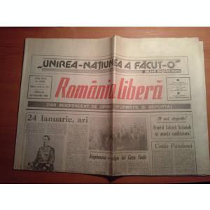 ziarul romania libera 24 ianuarie 1990 (131 de ani de la unirea principatelor )