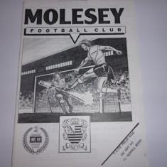 Program meci fotbal Molesey FC - Vauxhall 1990