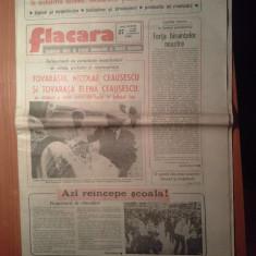 Ziarul flacara 15 septembrie 1989 (vizita lui ceausescu in jud. iasi )