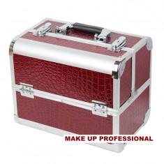 VALIZA/CASE MAKE UP PROFESIONALA DIN ALUMINIU, COMPARTIMENTATA.FII PROFESIONISTA! - Geanta cosmetice