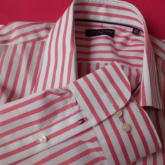 Vand camasi tommy hilfiger - Camasa barbati Tommy Hilfiger, Marime: XL, Culoare: Alb, Verde, Maneca lunga