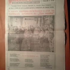 Ziarul flacara 3 noiembrie 1989 (nicolae si elena ceausescu au sarbatorit ziua recoltei in jud .braila )