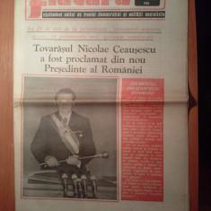 Ziarul flacara 29 martie 1985-ceausescu a fost proclamat din nou presedinte