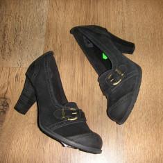 OFERTA! Pantofi TIMBERLAND Earth Keepers originali noi piele integral comozi 38 - Pantof dama Timberland, Culoare: Negru, Marime: 37.5, Piele naturala