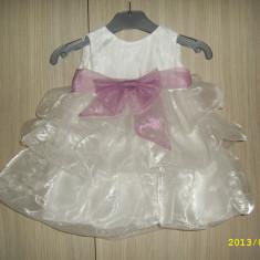 Rochie/rochita botez fetita 6-12 luni, Culoare: Alb