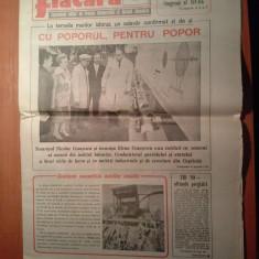 Ziarul flacara 6 octombrie 1989 (vizita lui ceausescu in jud. ialomita )