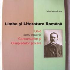 LIMBA SI LITERATURA ROMANA Clasele V-VIII, Mina Maria Rusu, 2006. Absolut noua - Teste admitere liceu